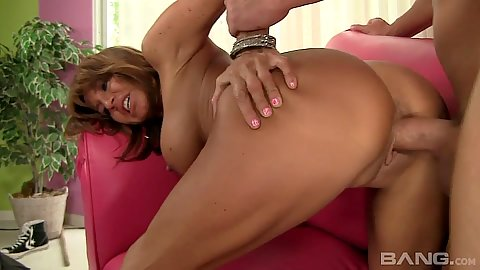 Rear entry milf drilling with salad tossing of a man in the middle with Tara Holiday