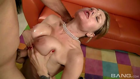 Zealous milf mom Velicity Von titty fuck with cowgirl sex