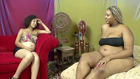 BBW lesbian and pregnant black girls