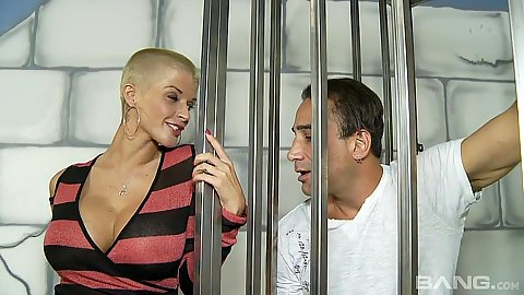 Joslyn James prison special with eating pantiless girl