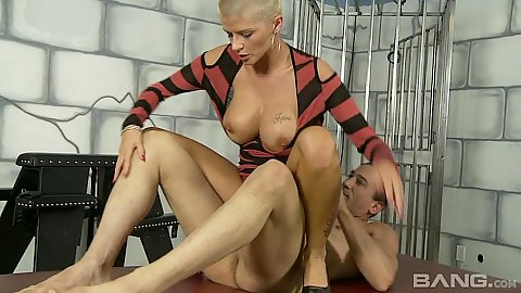Jolly reverse cowgirl hardcore prison cell bening with Joslyn James