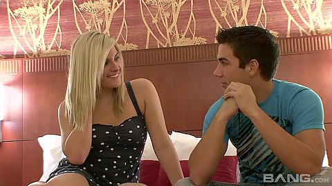 Lusty home made couple making out and undressing for camera with Kaycee Brooks