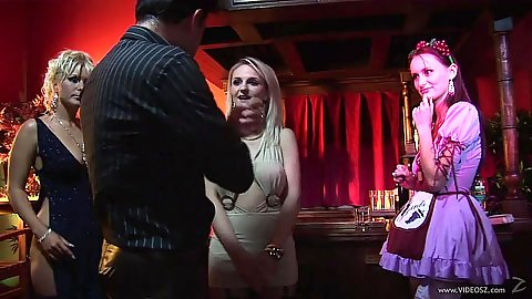 Fully lcothed girls engage in bad behaviour Kathy Anderson and Claudia Adams