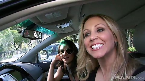 Mad blonde and latina Julia Ann and Charley Chase meat some dudes
