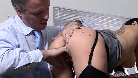 Classy whores Bobbi Eden and Claudia Adams fingered with some rough ball sucking