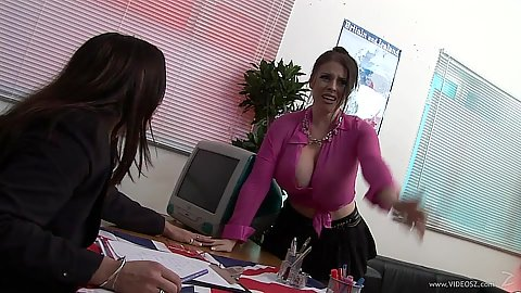 Office foursome with invaders Daphne Rosen and Cathy Berry
