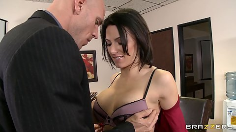 Boss fucks coworkers wife for some cash