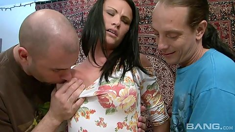 Class milf Ashli Ames gets undressed by a group of men