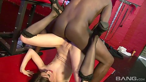 Voracious pile driver interracial with horny Tiffany Naylor