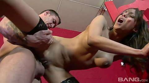 Standing fuck ramming latina in stockings Alyssa Divine