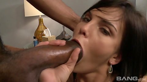 Sucking huge dick Mackenzee Pierce with sideways penetration