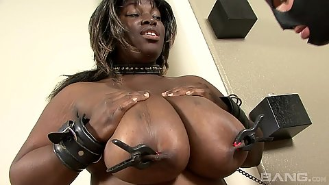 Huge tits ebony fetish bondage and some dusting