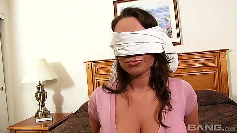 Blind folded milf Chloe Reece Ryder is in a room of home made gang bang