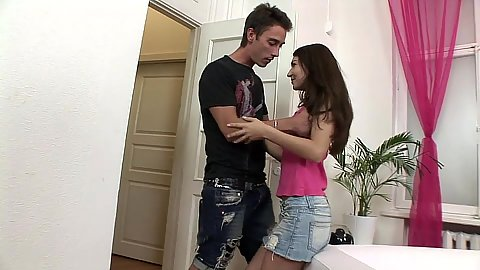 18 year old brunette Stacy Snake is from Holland and has sex
