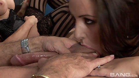 Refined sluts Dani Amour and Antonia Deona sucking dick and great office intercourse