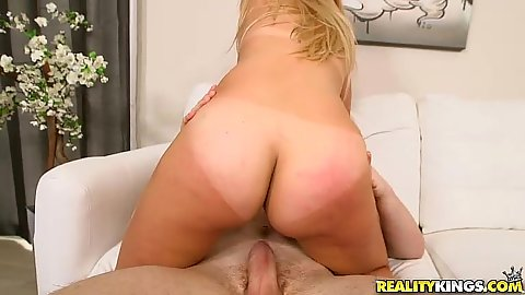 Breathtaking blonde latina butt sits on that lucky cock Jenny Taylor