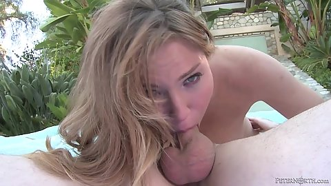 Lovely college Tiff Bannister does 69 and deep throat