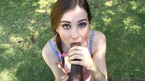 Pov big dick blowjob with cfnm white whore Kasey Warner