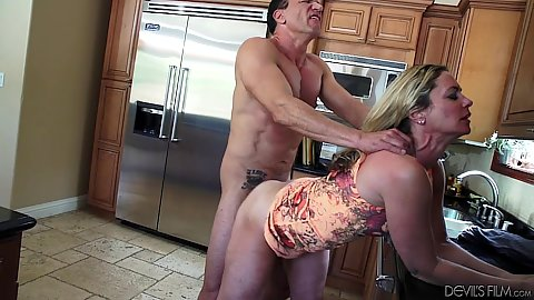 Refined mature whore Sydney A doggy style bent over kitchen table