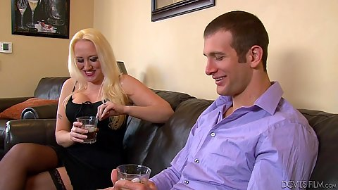 Blonde mature woman fucks husband Abby Paradise and Alana Evans