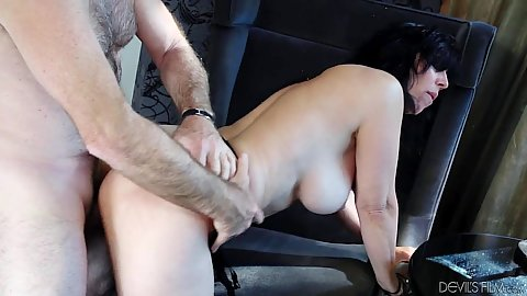 Wild busty mature granny needs a thrusting Raven Flight