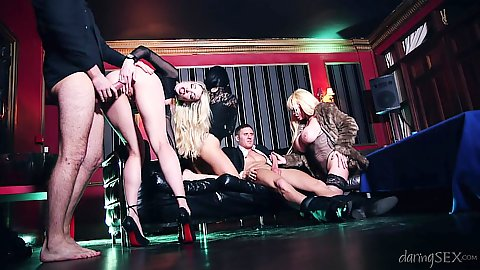 Captivating casino erotica orgy with Jaiden West and Tamara Grace and Jasmine Jae