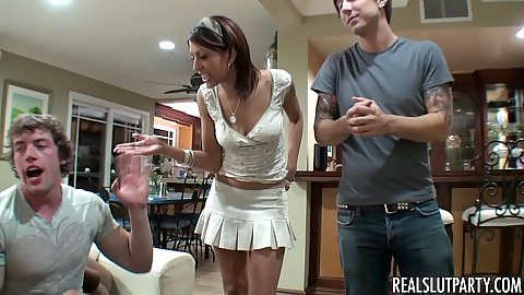 Truth or dare and the girls lose their clothes