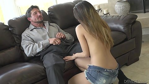 Daughter and milf Josie Jagger and Danica Dillon suck dick