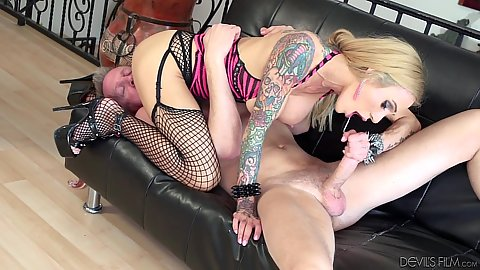 69 and blowjob with deep sucking Sarah Jessie and a titty fuck