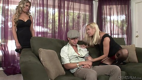 Mom and couple have sex Aubrey Addams and Totally Tabitha