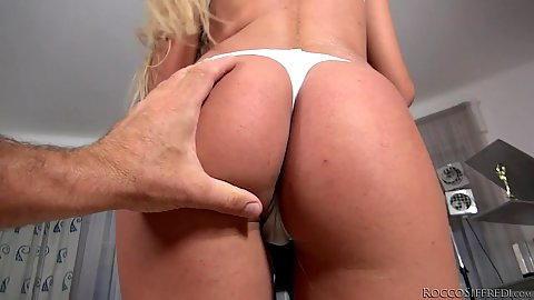 Milf and her ass Dora A sucking off the ball sack in pov