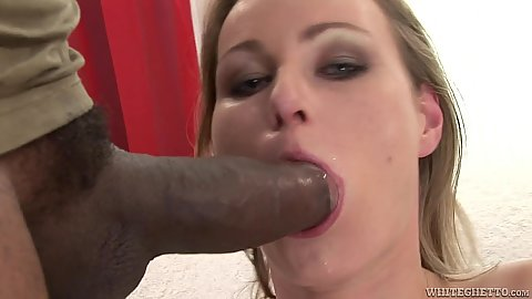 Interracial big dick blowjob with small boobies Daryl and really hairy pussy