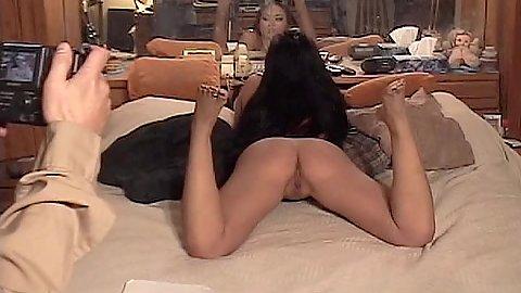 Luscious asian ass posing with Mia Lelani before she turned pro