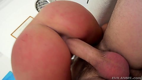Sensual cowgirl pussy sex and ass fingering for hairy Karlee Grey
