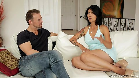 Fully clothed milf Dana Vespoli having a talk