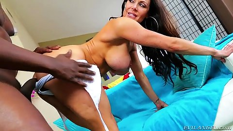 Doggy style standing fucking milf Kendra Lust with front entry later