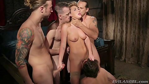 Gang bang of intense loving milf Carter Cruise in group