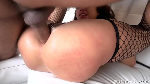 Anal rough sex slamming Adriana Chechik and fingering for a squirt