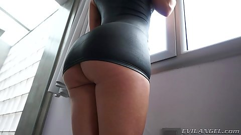 Tight ass in tight dress with horny latina  Franceska Jaimes and Sandra Milka