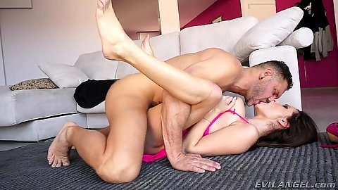 Missionary floor nailing with big natural breasts Sensual Jane