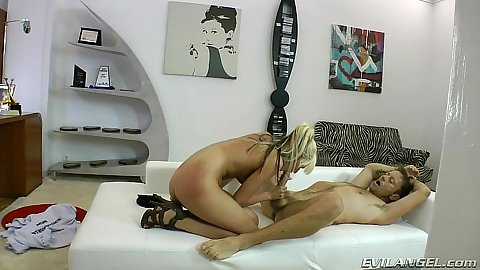 Nice body fit and athletic blowjob with cowgirl pussy nailing White Angel