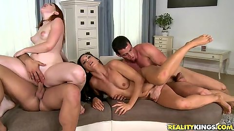 Orgy with group euro sluts redhead and a brunette Alexa Tomas and Amarna Miller
