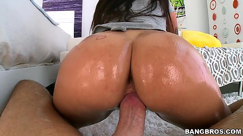 Overwhelming round booty on dick with ass fingering Karlee Grey