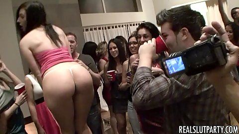Sluts gather up for a party having a few fucks