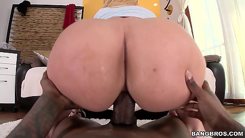Big ass interracial reverse cowgirl sex and some anal with Kelly Divine