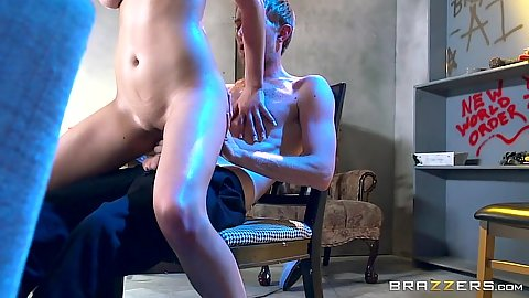 Reverse cowgirl fast moving cock jumping college whore Ashley Adams