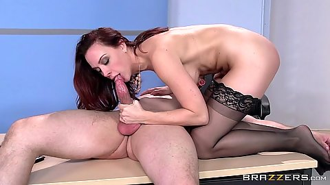 Work place fucking from appealing redhead Chanel Preston and trying to be quiet