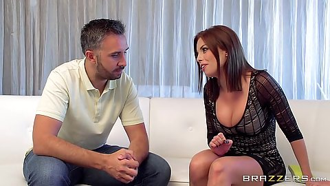 Fully clothed Britney Amber getting naked
