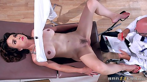 Gyno exam for hairy slut Cytherea