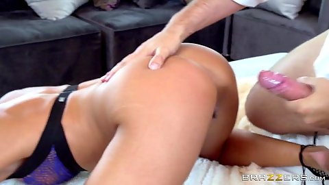 Temping doggy style sex from bra wearing wife Tiffany Brookes